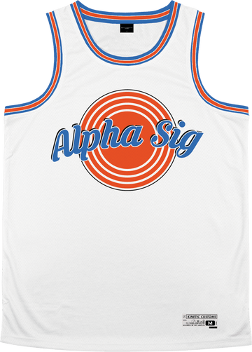 Alpha Sigma Phi - Vintage Basketball Jersey - Kinetic Society