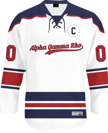 Alpha Gamma Rho - Captain Hockey Jersey - Kinetic Society