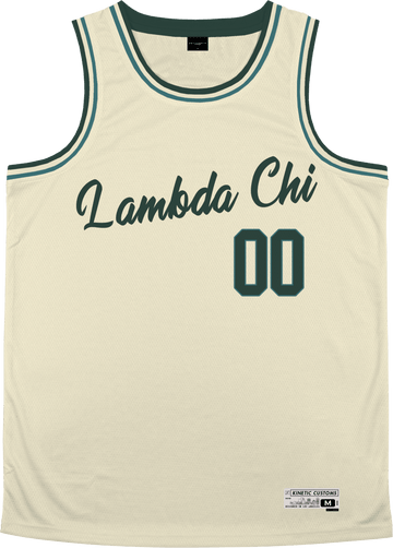 Lambda Chi Alpha - Buttercream Basketball Jersey Premium Basketball Kinetic Society LLC
