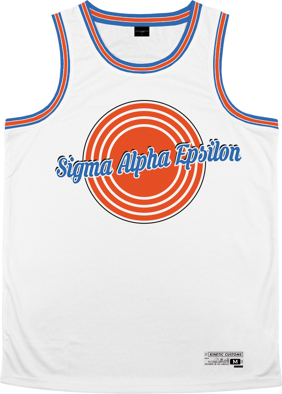 Sigma Alpha Epsilon - Vintage Basketball Jersey - Kinetic Society
