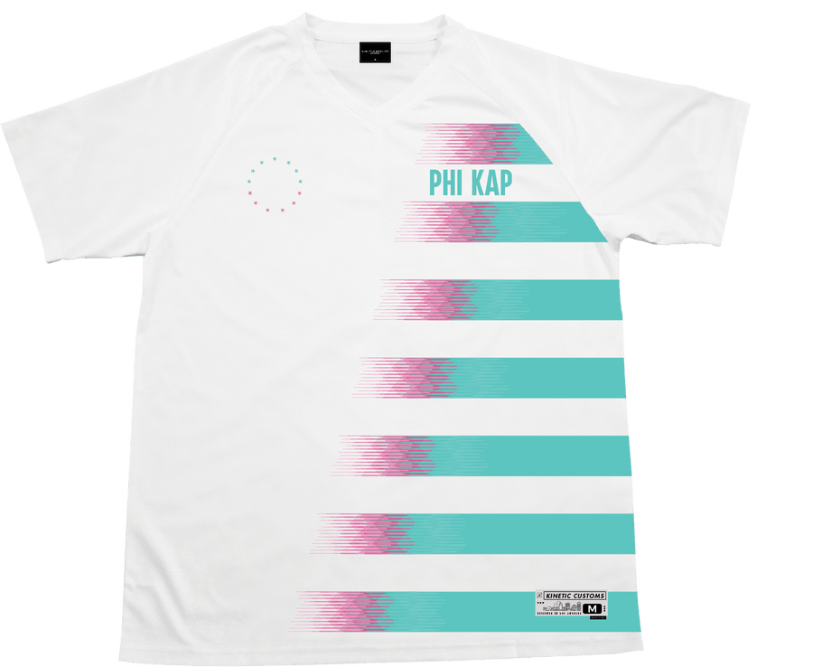Phi Kappa Sigma - White Candy Floss Soccer Jersey - Kinetic Society