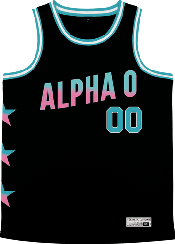 Alpha Omicron Pi - Cotton Candy Basketball Jersey - Kinetic Society