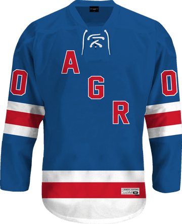 Alpha Gamma Rho - Blue Legend Hockey Jersey - Kinetic Society
