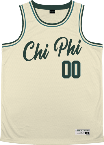 Chi Phi - Buttercream Basketball Jersey - Kinetic Society