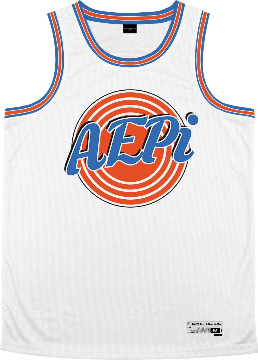 Alpha Epsilon Pi - Vintage Basketball Jersey Premium Basketball Kinetic Society LLC