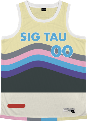 Sigma Tau Gamma - Swirl Basketball Jersey - Kinetic Society