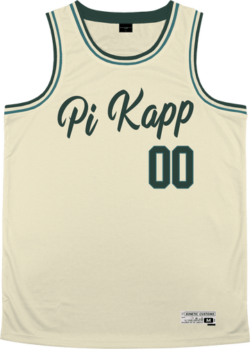 Pi Kappa Phi - Buttercream Basketball Jersey Premium Basketball Kinetic Society LLC