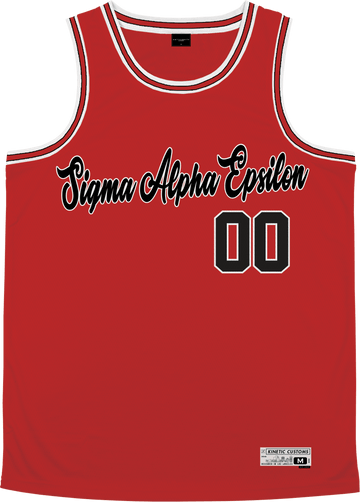Sigma Alpha Epsilon - Big Red Basketball Jersey Premium Basketball Kinetic Society LLC