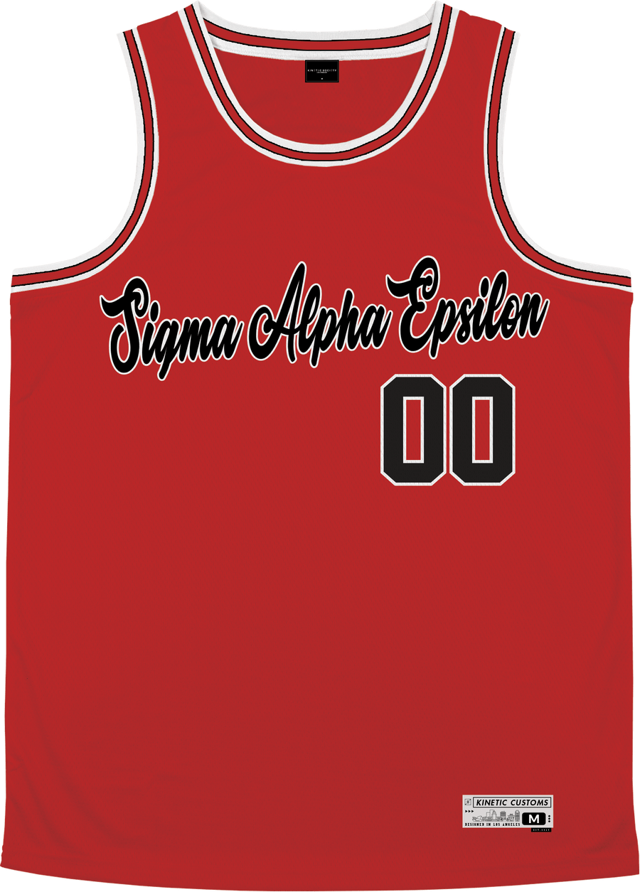 Sigma Alpha Epsilon - Big Red Basketball Jersey - Kinetic Society