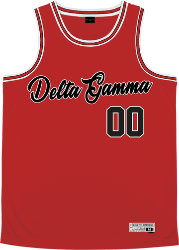Delta Gamma - Big Red Basketball Jersey - Kinetic Society