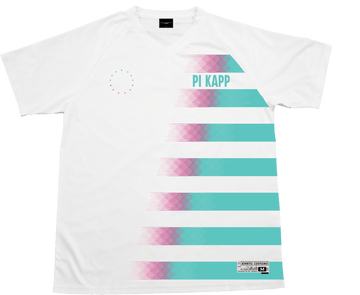 Pi Kappa Phi - White Candy Floss Soccer Jersey Soccer Kinetic Society LLC