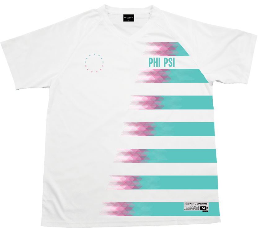 Phi Kappa Psi - White Candy Floss Soccer Jersey - Kinetic Society
