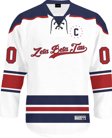 Zeta Beta Tau - Captain Hockey Jersey - Kinetic Society