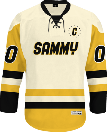 Sigma Alpha Mu - Golden Cream Hockey Jersey - Kinetic Society