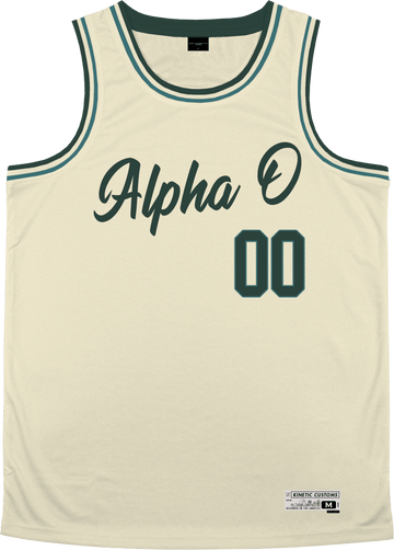 Alpha Omicron Pi - Buttercream Basketball Jersey - Kinetic Society