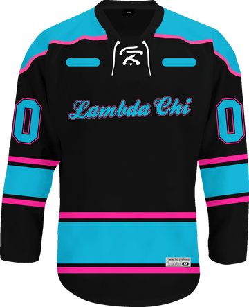 Lambda Chi Alpha - Tokyo Nights Hockey Jersey Hockey Kinetic Society LLC