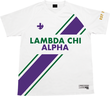 Lambda Chi Alpha - Home Team Soccer Jersey Soccer Kinetic Society LLC