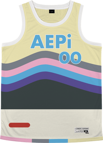 Alpha Epsilon Pi - Swirl Basketball Jersey Premium Basketball Kinetic Society LLC