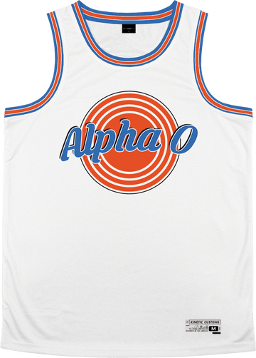 Alpha Omicron Pi - Vintage Basketball Jersey - Kinetic Society