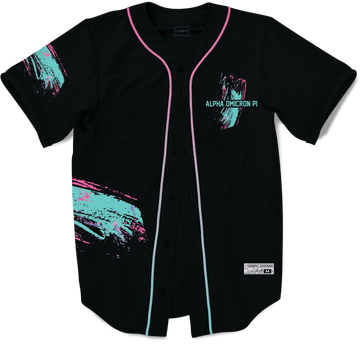 Alpha Omicron Pi - Miami Beach Splash Baseball Jersey - Kinetic Society