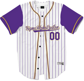 Sigma Alpha Epsilon - House Baseball Jersey Premium Baseball Kinetic Society LLC