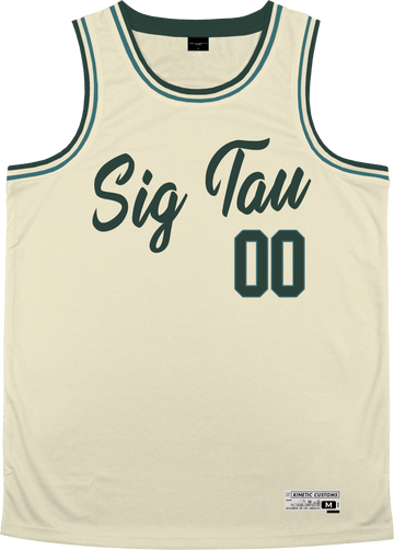 Sigma Tau Gamma - Buttercream Basketball Jersey - Kinetic Society