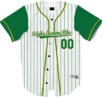 Alpha Gamma Rho - House Baseball Jersey - Kinetic Society