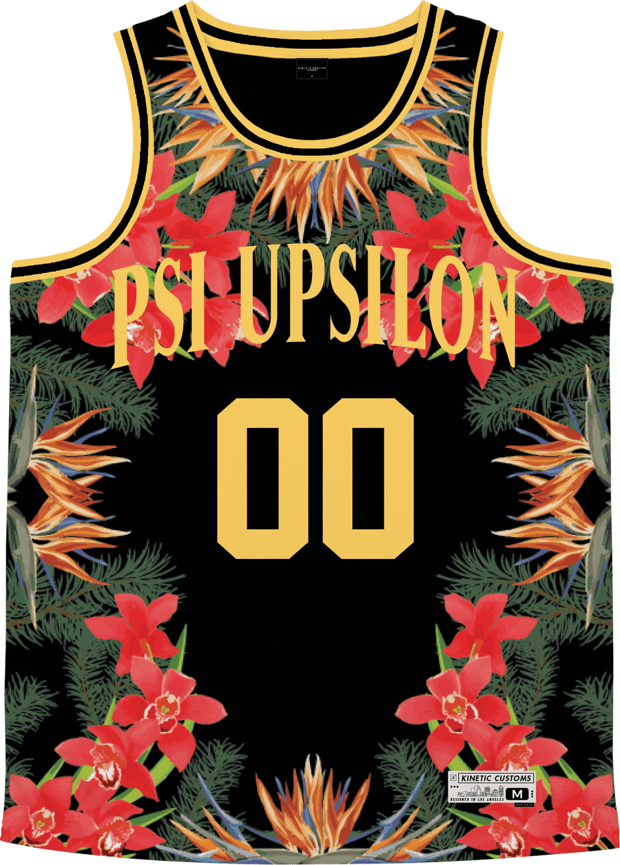 Psi Upsilon - Orchid Paradise Basketball Jersey - Kinetic Society