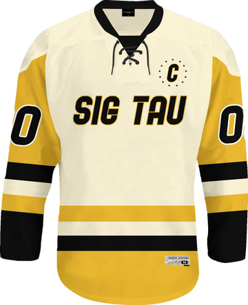Sigma Tau Gamma - Golden Cream Hockey Jersey - Kinetic Society