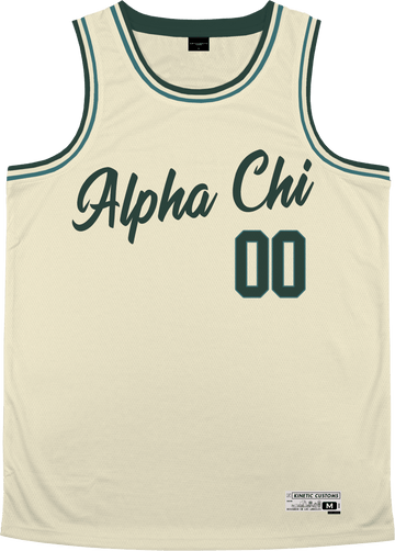 Alpha Chi Omega - Buttercream Basketball Jersey - Kinetic Society