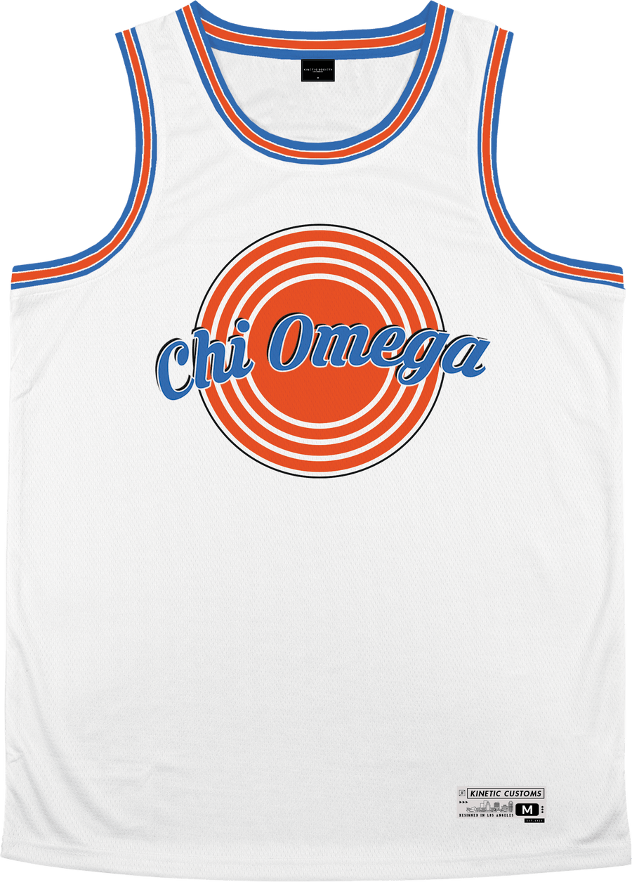 Chi Omega - Vintage Basketball Jersey - Kinetic Society