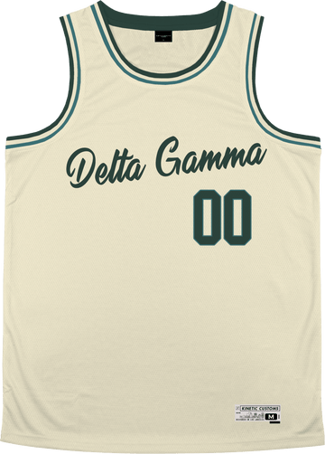 Delta Gamma - Buttercream Basketball Jersey - Kinetic Society