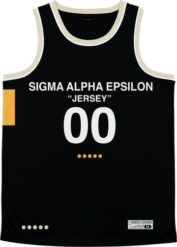 Sigma Alpha Epsilon - OFF-MESH Basketball Jersey Premium Basketball Kinetic Society LLC