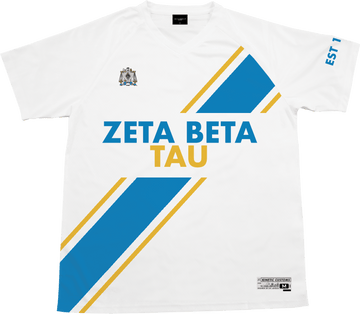 Zeta Beta Tau - Home Team Soccer Jersey Soccer Kinetic Society LLC