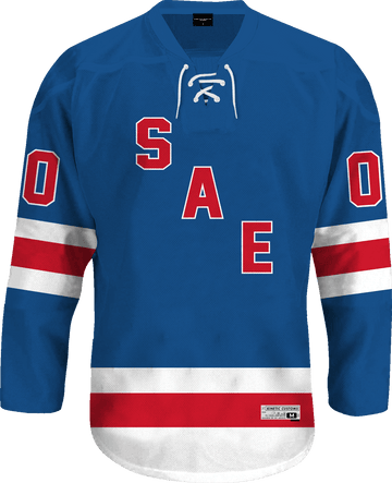 Sigma Alpha Epsilon - Blue Legend Hockey Jersey Hockey Kinetic Society LLC