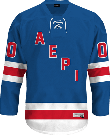 Alpha Epsilon Pi - Blue Legend Hockey Jersey Hockey Kinetic Society LLC