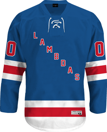Lambda Phi Epsilon - Blue Legend Hockey Jersey Hockey Kinetic Society LLC