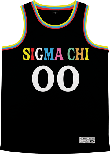 Sigma Chi - Crayon House Basketball Jersey - Kinetic Society