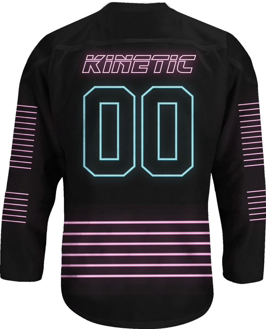 Zeta Beta Tau - Neon Polar Bear Hockey Jersey - Kinetic Society