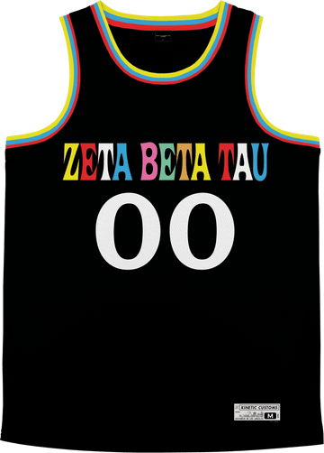 Zeta Beta Tau - Crayon House Basketball Jersey Premium Basketball Kinetic Society LLC