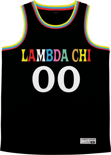 Lambda Chi Alpha - Crayon House Basketball Jersey Premium Basketball Kinetic Society LLC