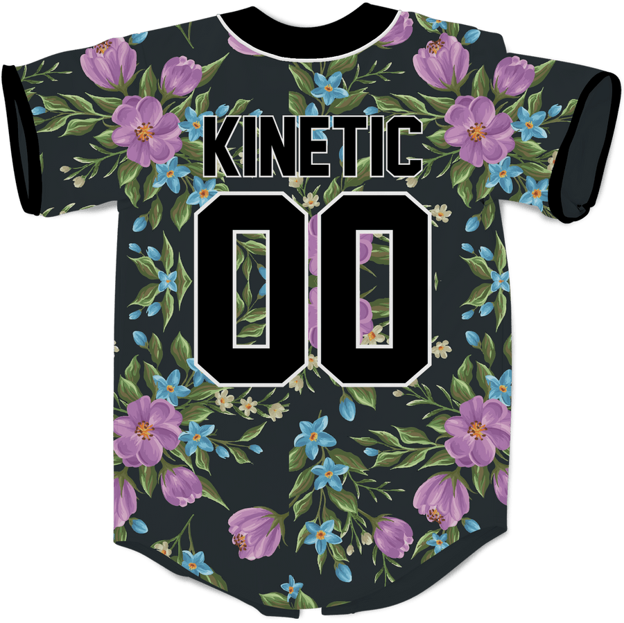 Acacia - Midnight Bloom Baseball Jersey - Kinetic Society