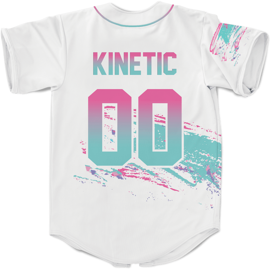 Gamma Phi Beta - White Miami Beach Splash Baseball Jersey - Kinetic Society