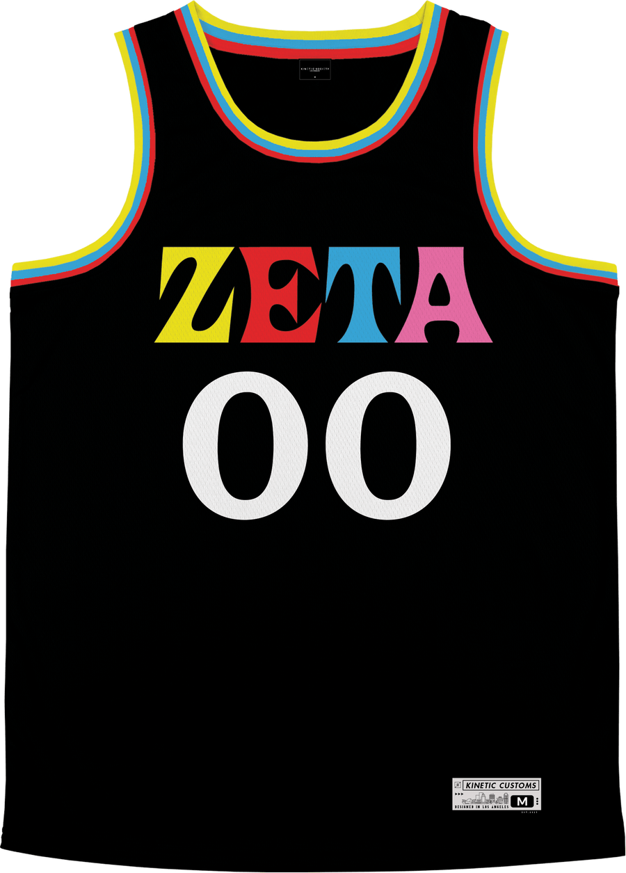Zeta Tau Alpha - Crayon House Basketball Jersey - Kinetic Society