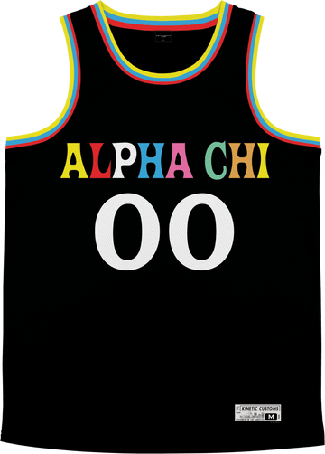 Alpha Chi Omega - Crayon House Basketball Jersey - Kinetic Society