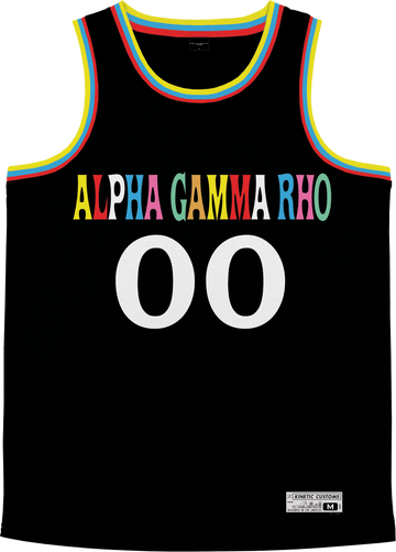 Alpha Gamma Rho - Crayon House Basketball Jersey - Kinetic Society