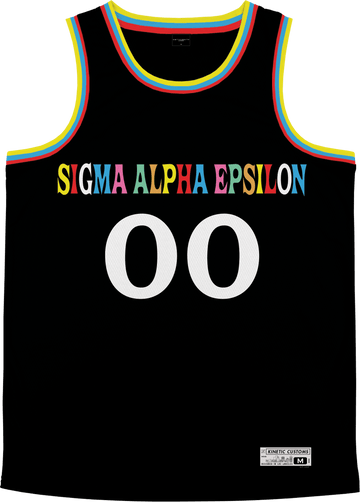 Sigma Alpha Epsilon - Crayon House Basketball Jersey Premium Basketball Kinetic Society LLC