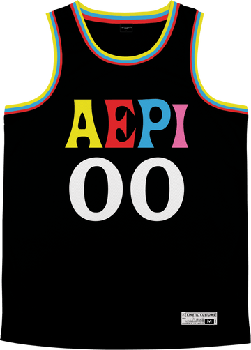 Alpha Epsilon Pi - Crayon House Basketball Jersey Premium Basketball Kinetic Society LLC