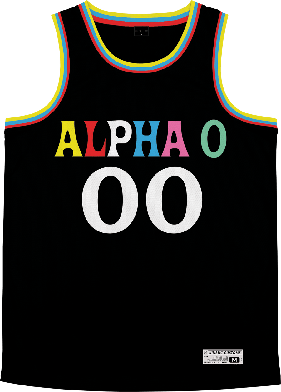 Alpha Omicron Pi - Crayon House Basketball Jersey - Kinetic Society