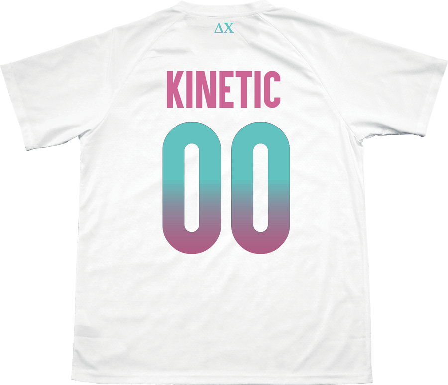 Delta Chi - White Candy Floss Soccer Jersey - Kinetic Society
